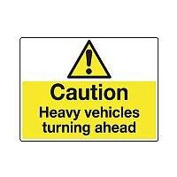 Sign Caution Heavy Vehicles 600x450 Vinyl