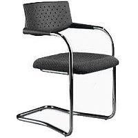 Cantilever Boardroom Stacking Chair Black
