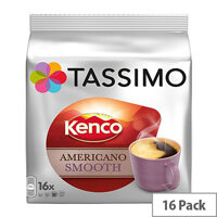 Tassimo T-Discs Kenco Americano Smooth (Pack of 16 Capsules) - Makes 16 Drinks