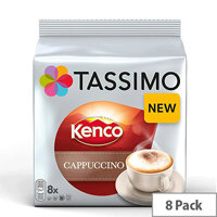 Tassimo T-Discs Kenco Cappuccino (Pack of 8 Capsules) - Makes 8 Drinks