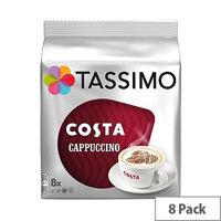 Tassimo T-Discs Costa Cappucino (Pack of 8 Capsules) - Makes 8 Drinks