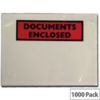 Tenza Self Adhesive Documents Enclosed Wallet DL Pack of 1000 DL2 PLE-DOC-DL