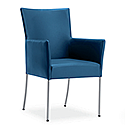 TIME Reception / Conference Room Leather Look Chair Peacock Blue