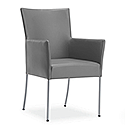 TIME Reception / Conference Room Leather Look Chair Grey
