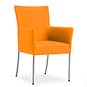 TIME Reception / Conference Room Leather Look Chair Orange