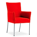 TIME Reception / Conference Room Chair Red Fabric