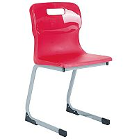 Titan Reverse Cantilever Chair 350mm Red T80