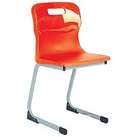 Titan Reverse Cantilever Chair 380mm Red T81