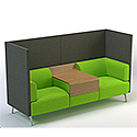 Meeting Pod TRYST 2 Seater Booth Grey & Green STK11