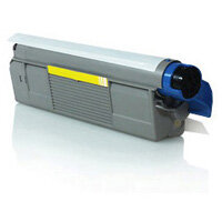 Compatible OKI 43865721 Yellow Laser Toner 6000 Page Yield