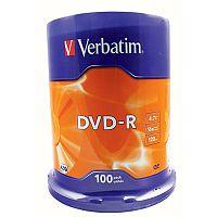 Verbatim DVD-R 16X Non-Printable Spindle Pack of 100 43549