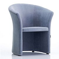 VIZZ Tub Reception Chair Grey Velvet