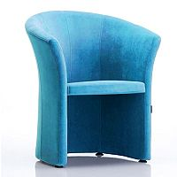 VIZZ Tub Reception Chair Sky Blue Velvet