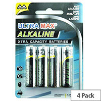 White Box Alkaline Batteries AA (Pack 4)