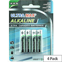 White Box Alkaline Batteries AAA (Pack 4)