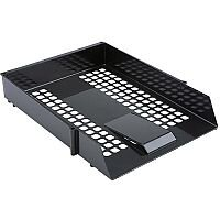5 Star Value Letter Tray Black - Single