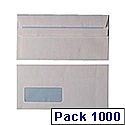 Envelope DL Window 80gsm White Self-Seal Pack of 1000 WX3455