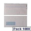Envelopes DL Window Self Seal White (Pack of 1000)