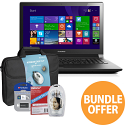 "Lenovo B50 15.6"" Laptop Intel Celeron 4GB RAM 500GB HDD DVD Windows 8.1 + FREE ACCESSORIES"