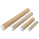 Brown Kraft 330x50mm Cardboard A4-A3 Postal Tubes Pack of 25