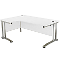 Arista 1600mm Left Hand Radial Desk White