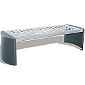 Cast Iron Backless Bench Silver/Black 370111