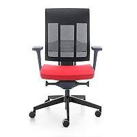 Xenon Swivel Ergonomic Mesh Back Task Chair Red