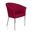 YOU Tub Reception Chair Claret