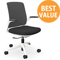 Z.33 Office Chair with Breathable Mesh Back Graphite Seat & White Frame