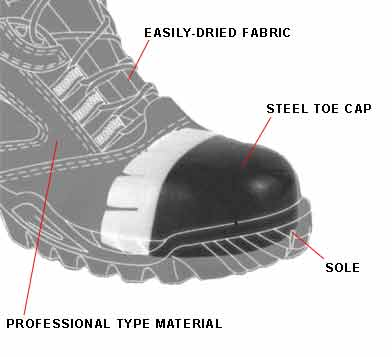 Work Safety Shoe Steel Toe Inside