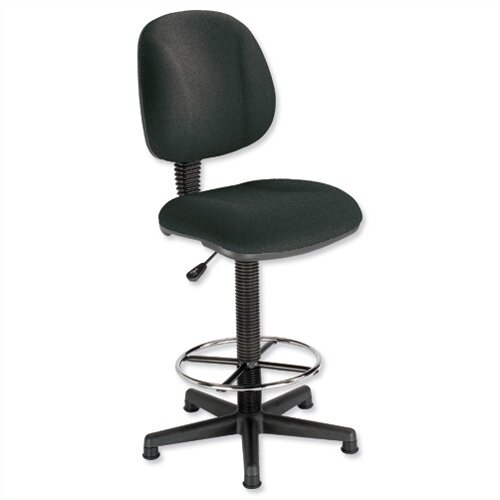 High Rise Operators Draughtsman Chair Charcoal Trexus