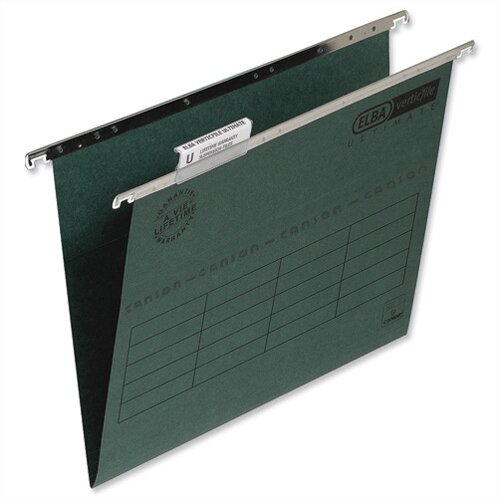 Elba vertic foolscap suspension file green with tabs and for Suspension fille