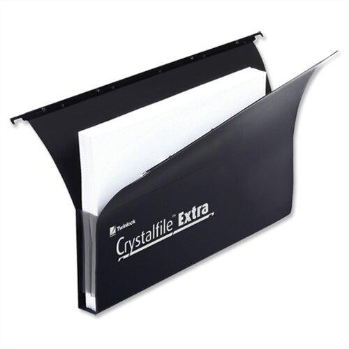 Rexel Crystalfile Extra Secura Foolscap Suspension File Blue Plastic 30mm Pack 25