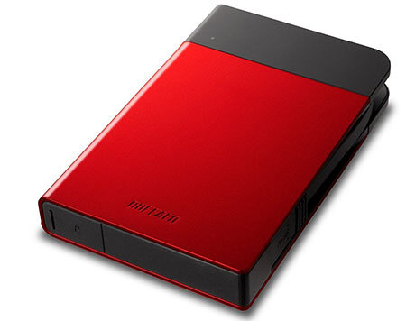Buffalo MiniStation Extreme Shock Resistant External Hard Drive 1TB Red
