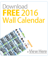 Download 2016 Free Wall Calendar