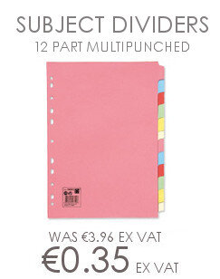 12 Part Subject Dividers