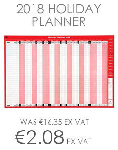 5 Star Office 2018 Holiday Planner Unmounted