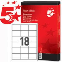 5 Star Laser Labels