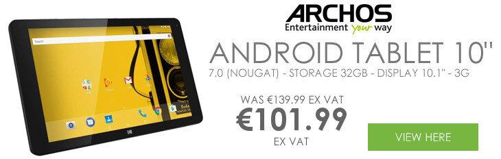 "Archos KODAK Tablet 10"" Tablet Android 7.0 (Nougat) - Storage 32GB - Display 10.1"" - 3G"