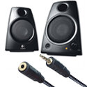 Logitech Z130 Multimedia Speakers Headphone Jack 3.5mm Plug 5 Watt 980-000419