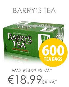 Barrys Original Blend Green Label 600's 1 Cup Tea Bags [Pack of 600]