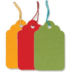Coloured Strung Tags