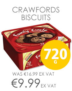 Crawfords Family Circle Biscuits Re-sealable Box Assorted Pack 720g