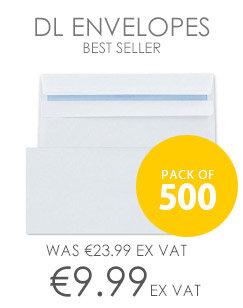 Q-Connect Envelope DL 100gsm Plain Peel and Seal White Pack of 500 KF02951