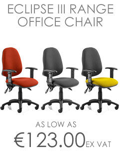Eclipse III Lever Task Operator Office Chair Black With Height Adjustable Arms