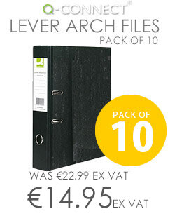 A4 Lever Arch File Board Pack of 10 Q-Connect