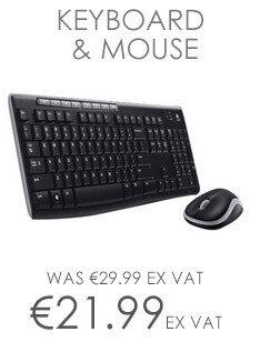 Logitech MK270 USB Wireless Combo 2.4 GHz Keyboard Mouse