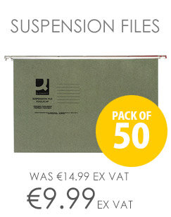 Q-Connect Suspension File Tabbed Foolscap Pack of 50 KF21001