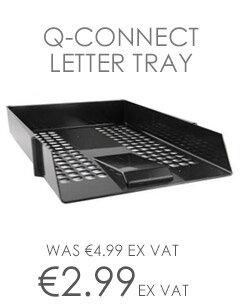 Q-Connect Letter Tray Plastic Black