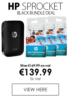 HP Sprocket White Photo Colour Printer & Photo Paper Bundle